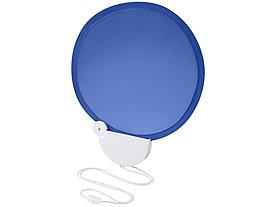 Складной вентилятор (веер) Breeze со шнурком, ярко-синий/белый