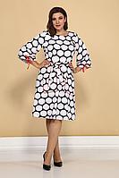 Женское осеннее белое большого размера платье Juliet Style Д219 50р.