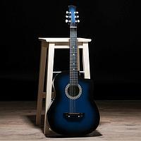 Гитара акустическая 6-ти струнная, сине-чёрная