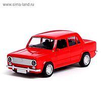 Машина металлическая «Русская классика», открываются двери, цвет красный