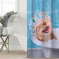 Штора для ванной комнаты 'Кайф', 145x180 см, оксфорд