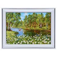 Картина 'Ромашки у озера' 13х18(16х21) см