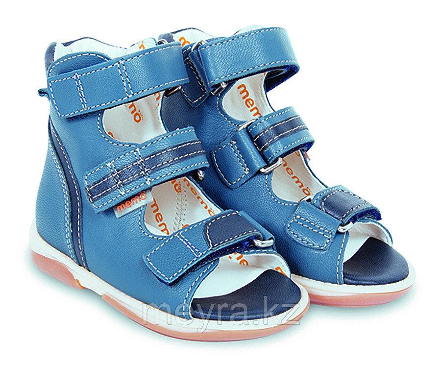 Синие лечебно-профилактические сандалии для мальчика