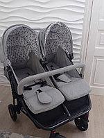 Детская коляска для двойни Lorelli Duo grey dots 2173
