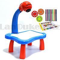 Набор для детского творчества столик для рисования с проектором слайдерами многоразовой платформой Spider man