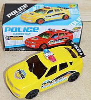 353-68 Полицейская машина 3D на батарейках 9*18см