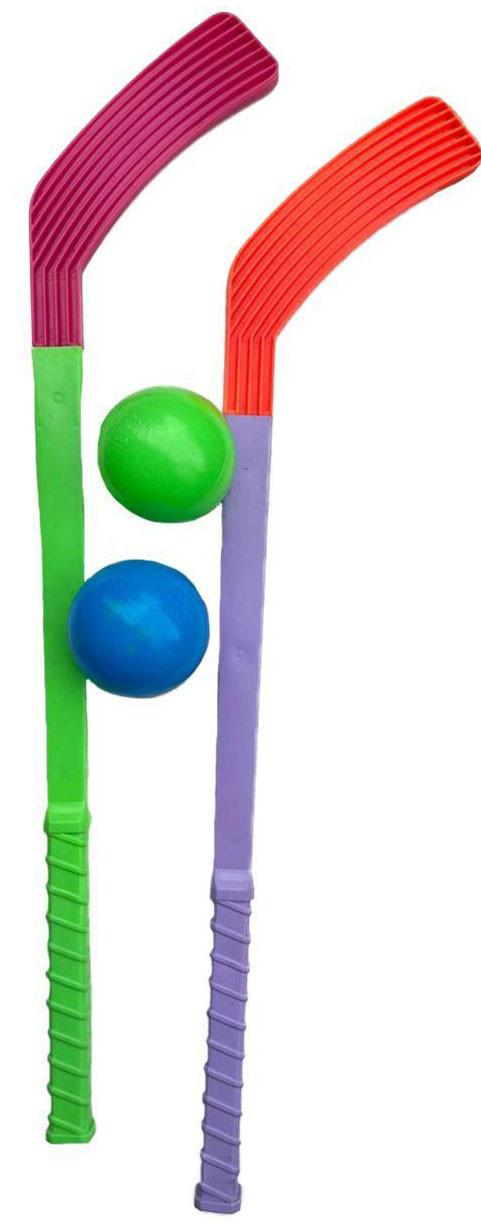 Хоккей 2 клюшки (58см) и 2 мяча