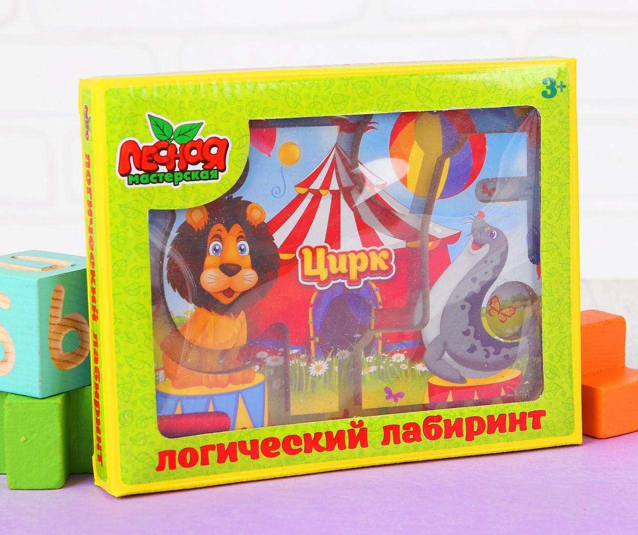"""Лабиринт магнитный малый """"Цирк"""" 841796"""