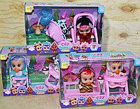D17-120 Кукла 2в1 Малышка 3 вида цена за 1шт 17*18см, фото 1