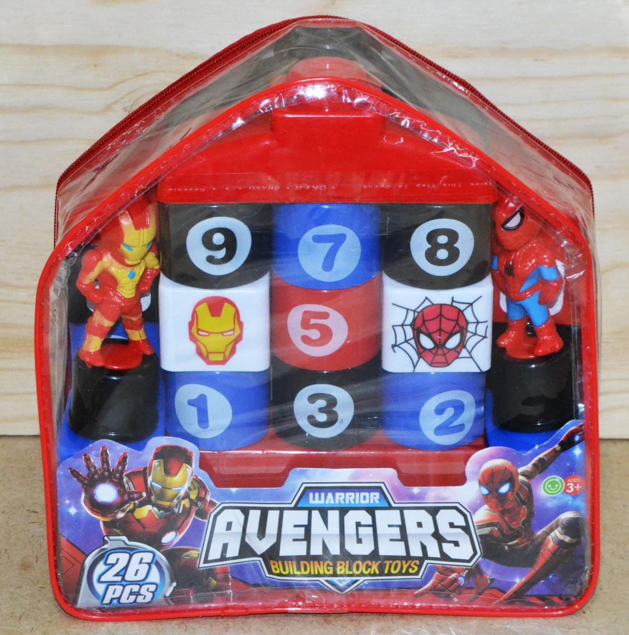 368-42А Мстители констр в рюкзаке Avengers 26дет. 20*20см