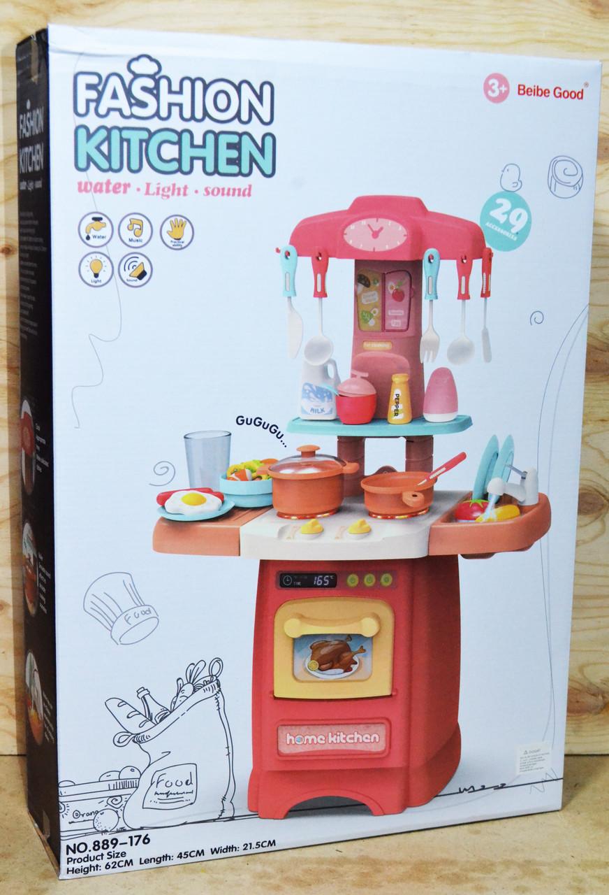 889-176 Кухня с водой с духовкой 29 предметов Fashion Kitchen 53*38см