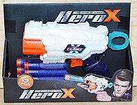 7213 Пистолет Herox + 6 пулек 21*16см