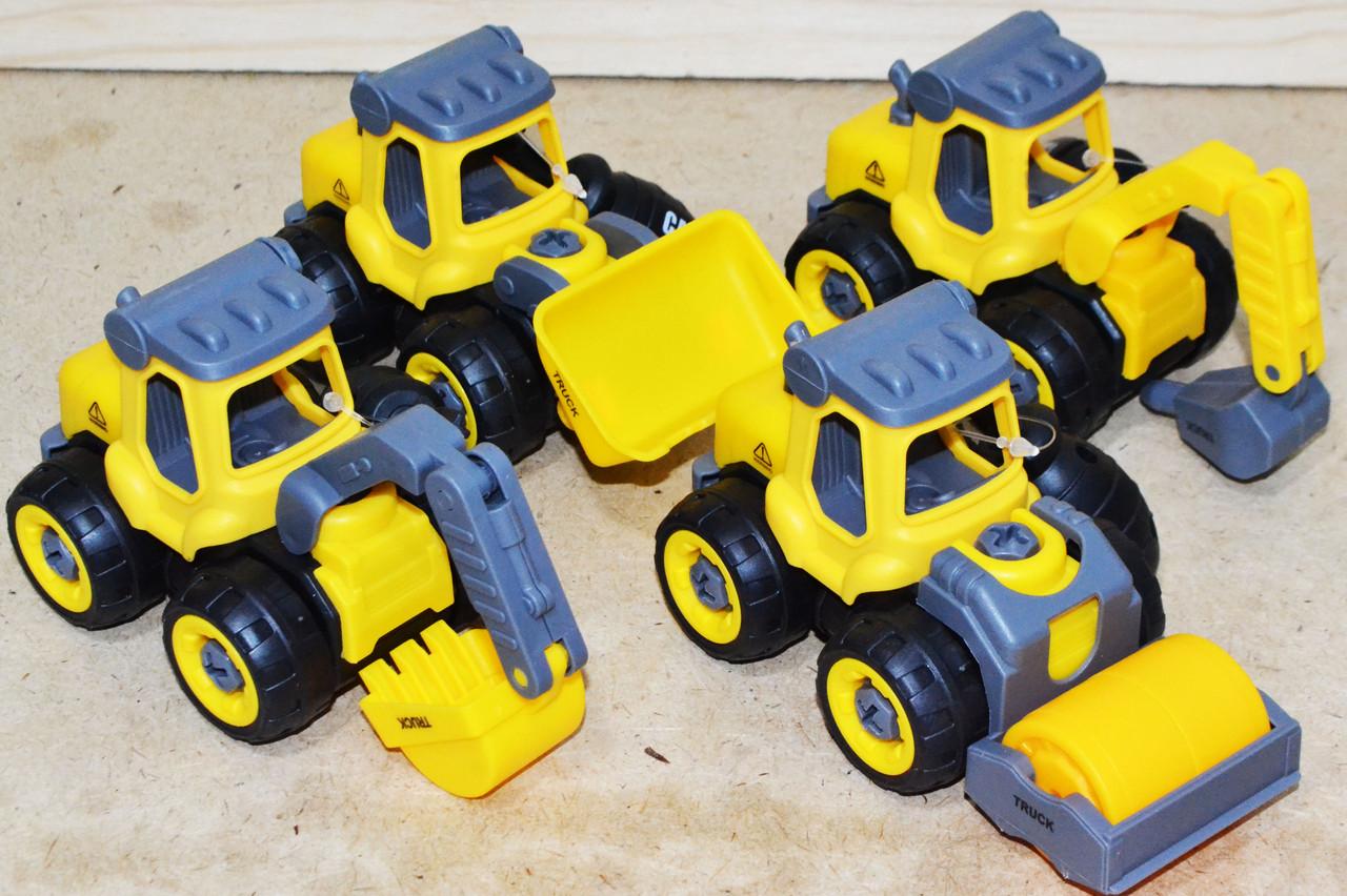 335 Строительная машина разбирайка 3 вида из 12шт, цена за 1шт 13*8см