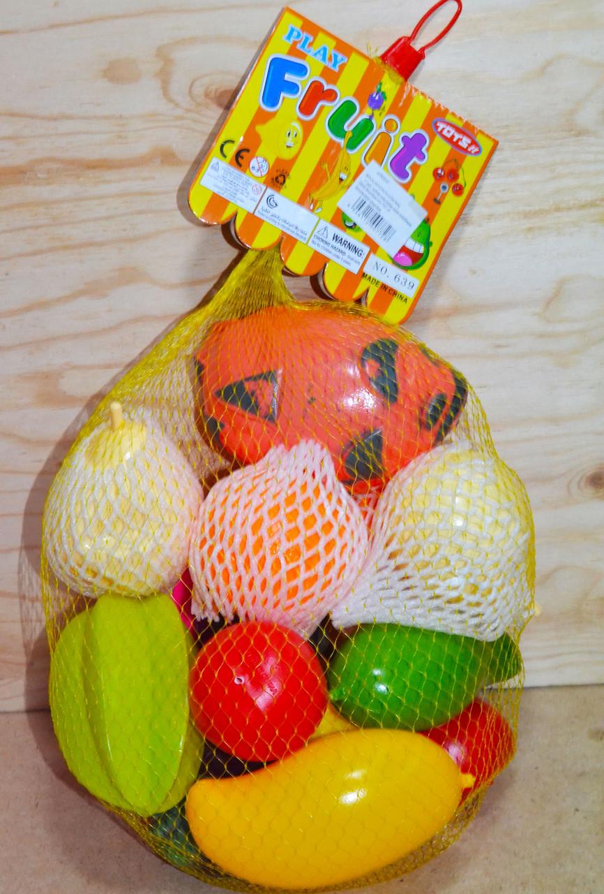 639 Фрукты в наборе Fruit set 55см