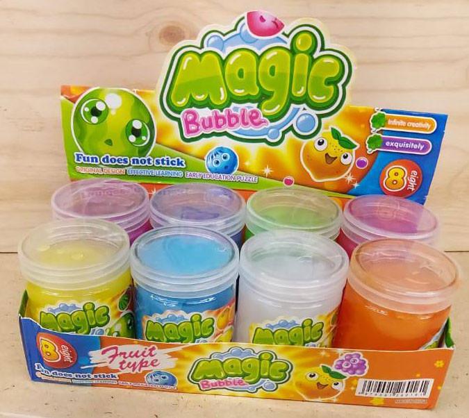 8219 Слайм радужный Magic bubble (7*5см)  8цветов из 8шт, цена за 1шт
