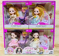 D17-HY8216-1 Кукла качест с коляской,качеля,гаршок 4шт в уп., цена за 1шт 18*17см, фото 1