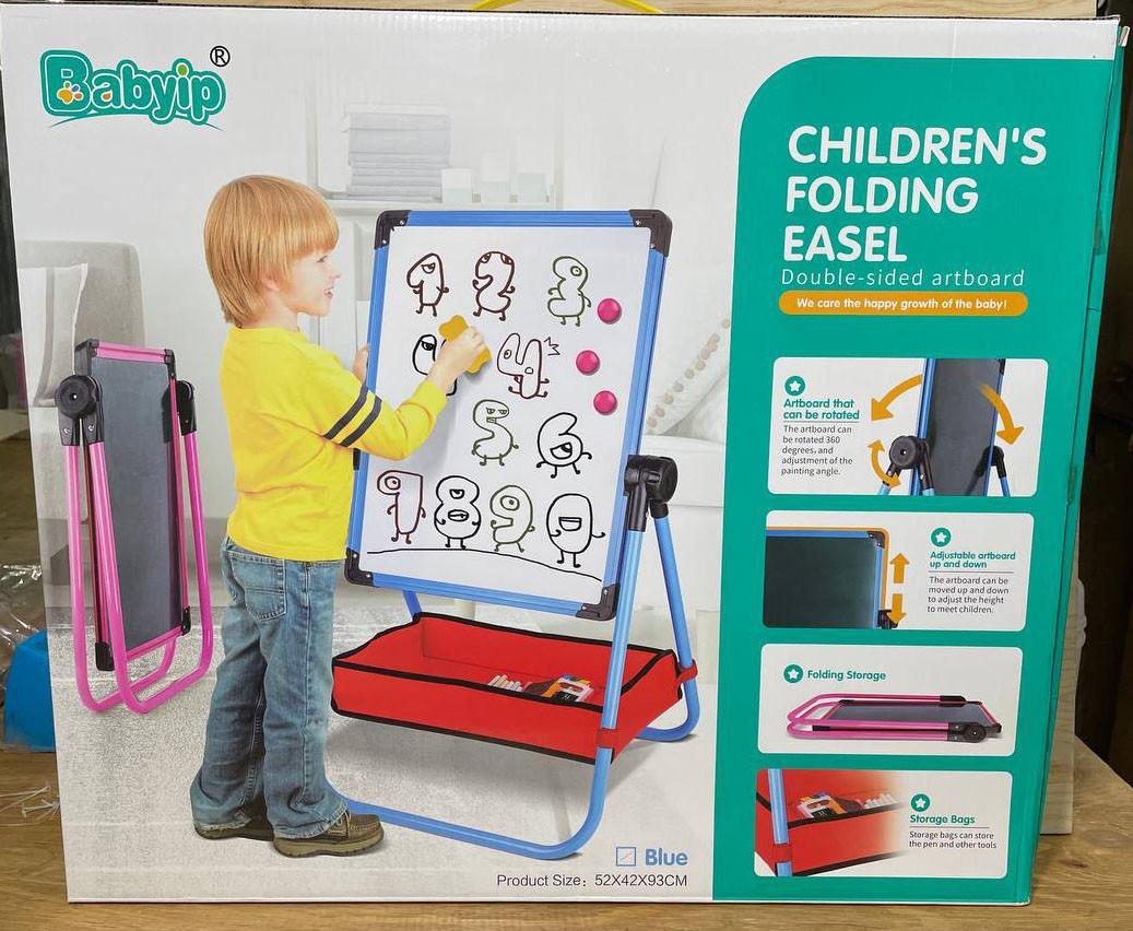 6199A Доска для рисования Children Easel с аксесс 61*53см