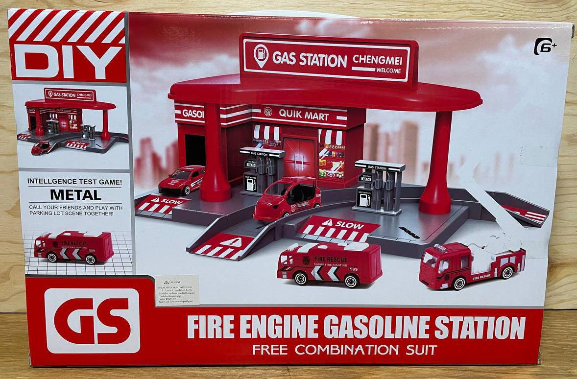 CM559-12B Пожарная станция + 2 машинки метал 40*27см