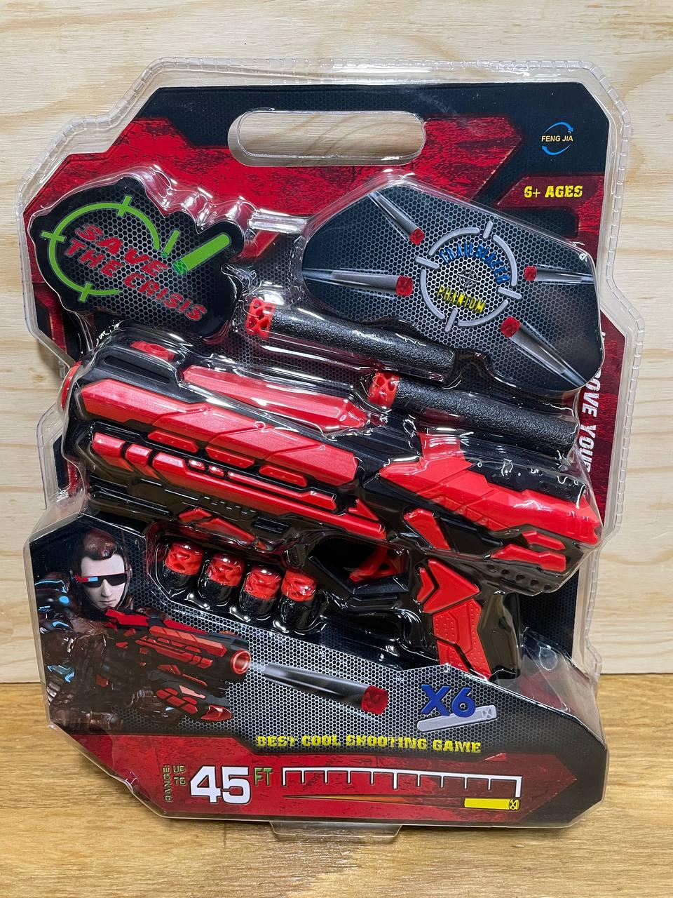 FJ-803  Бластер Soft Bullet Gun красный 28*22