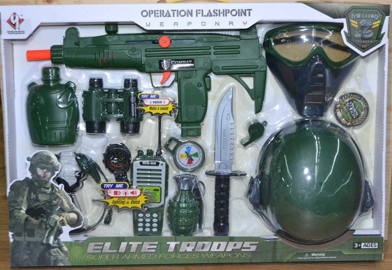N015 Военный набор Flik Troops с каской большой 58*40см