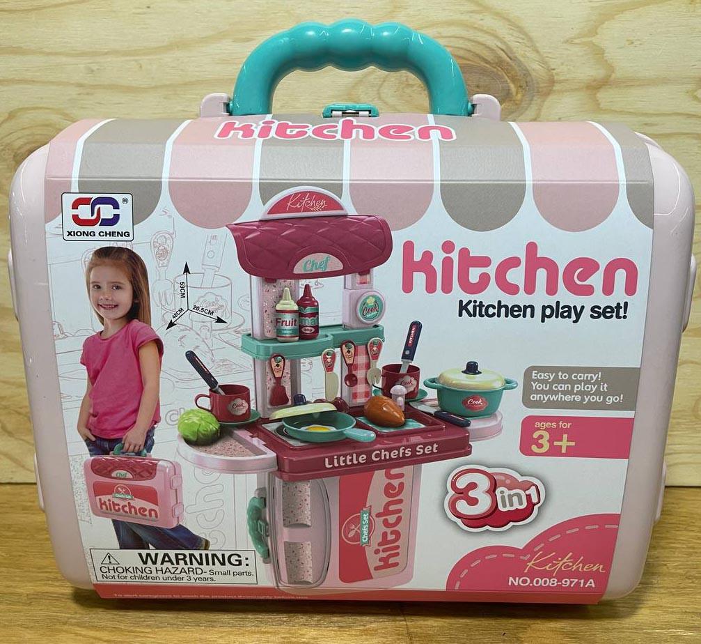 008-971 Кухня в чемодане 3 в 1 Kitchen set 27*25см