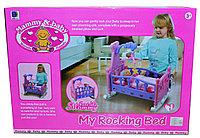 661-03A Кроватка для куклы с мобилем Mammy's baby муз, 56*40см
