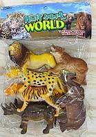 Q701 Дикие животные Джунгли Happy animal world 6шт в пакете 32*23см