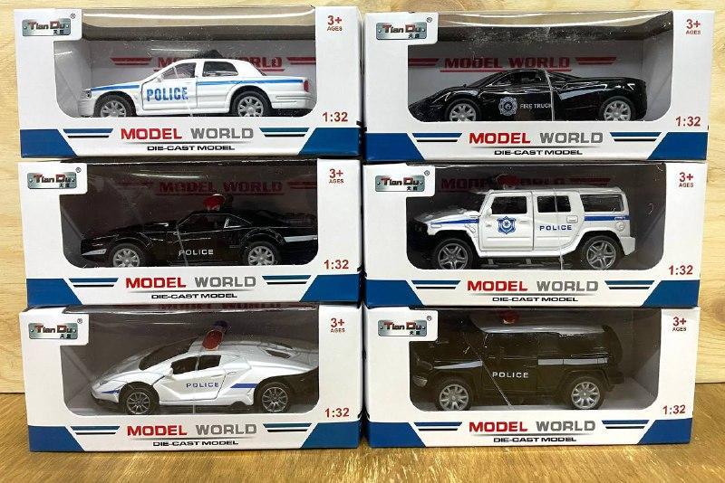 F1 Модел полицейской машины металл разные 16*7см