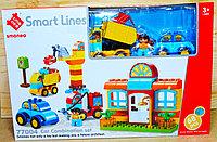 77004 Конструктор Smart Lines строительная площадка 68 дет 45*30