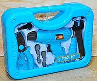 6658AB-1 Инструменты Tool Set в чемодане голубой цвет 26*20