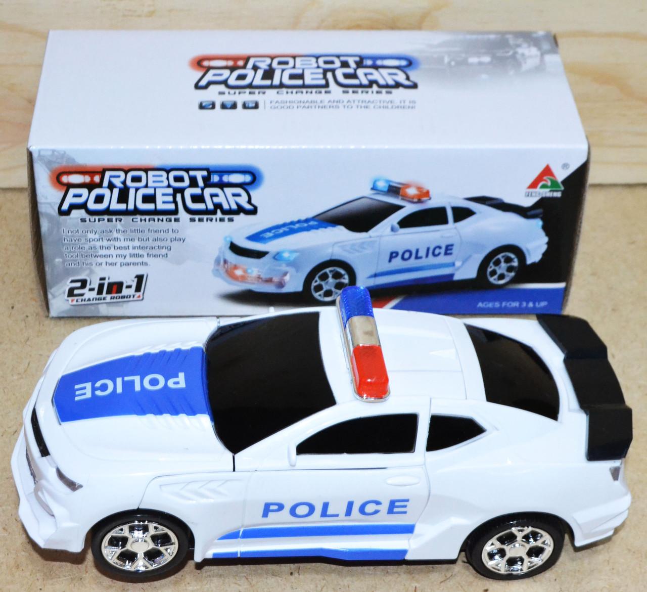 FW-2038A Робот полицейский 2в1 на батар, 21*8см