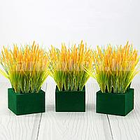 Искусственная трава пшеница для декора с регулирующей длиной 38-30 см (1 пучок)