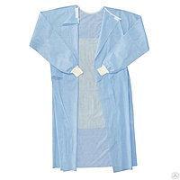 Хирургический одноразовый халат | Плотность - 25 гр/м2 нестерильный (МАНЖЕТА)