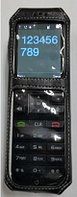 Защитный кожаный черный чехол для телефона INCOM ICW-1000G