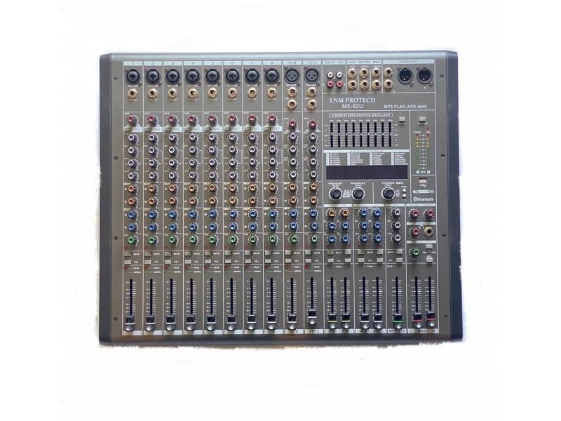 Пассивный микшерный пульт LNM Protech MX-82U серый