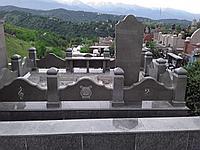 Мемориальный комплекс из коричневого Куртинского гранита 02