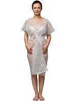 Халат кимоно, белый, спанбонд (10 шт в уп)