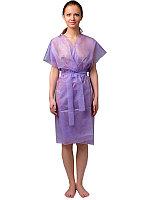 Халат кимоно, фиолетовый, спанбонд (10 шт в уп)
