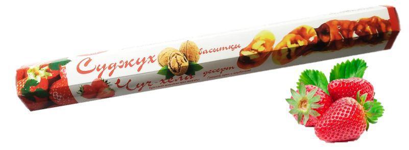Чурчхела с грецким орехом и клубникой 150 гр СУДЖУХ (16 шт в упаковке)
