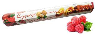Чурчхела с грецким орехом и малиной 150 гр СУДЖУХ (16 шт в упаковке)