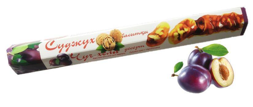 Чурчхела с грецким орехом и черносливом 150 гр СУДЖУХ (16 шт в упаковке)