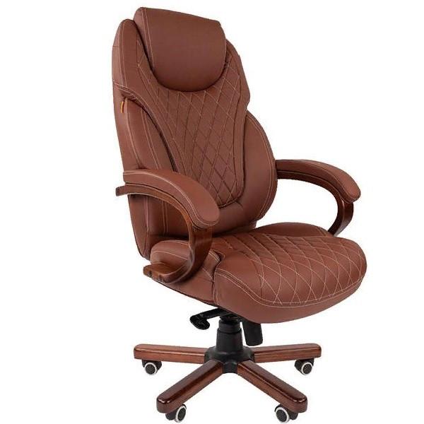 Офисное кресло Chairman 406 Россия экопремиум коричневое