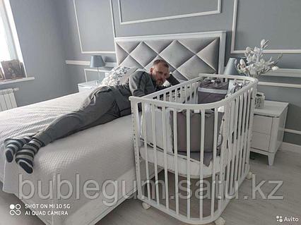"""Кроватка детская приставная Incanto """"Leeloo"""" 16 уровней ложа 95*55"""