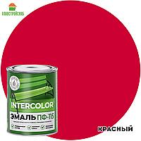 Эмаль ПФ-115 INTERCOLOR красный 0,8 кг