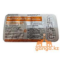 Дханвантарам 101 капсулированное масло (Dhanwantaram 101, ARYA VAIDYA SALA), 10 кап/1 блистер