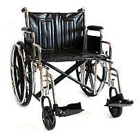Инвалидная коляска Мега-Оптим 711AE, кожзам, литые задние колеса 711AE литые, 610