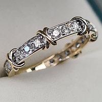 Золотое кольцо с бриллиантами 0.60Сt VS1/H, EX - Cut, фото 1
