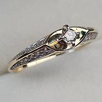 Золотое кольцо с бриллиантами 0.45Сt SI2/I, EX - Cut
