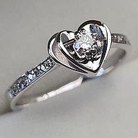 Золотое кольцо с бриллиантами 0.20Сt SI1/I, VG - Cut, фото 1