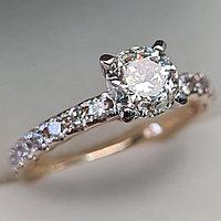 Сертификат IGI 1,52Сt I1/L VG-Cut Золотое кольцо с бриллиантами
